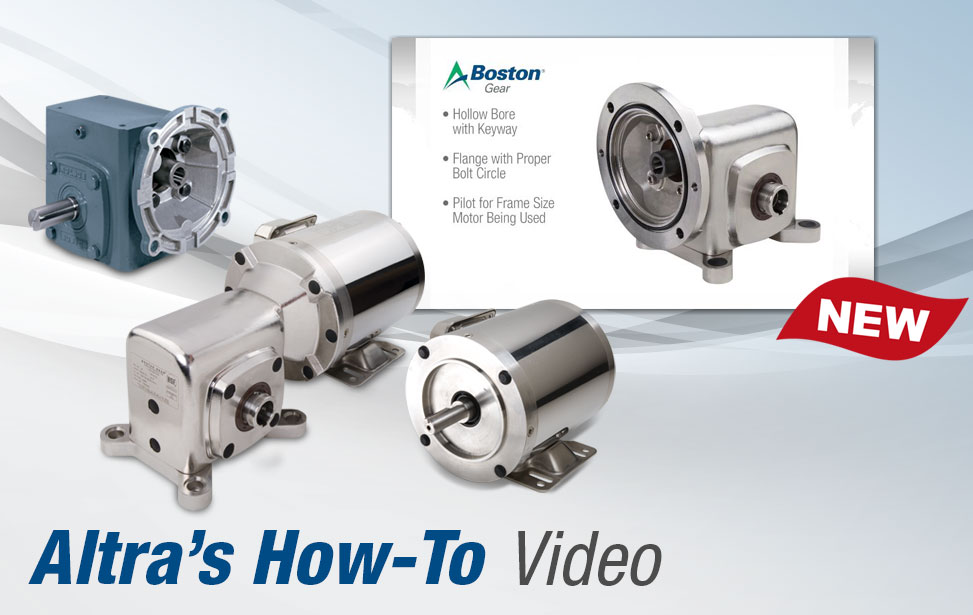 Boston Gear how-to-video motor installation