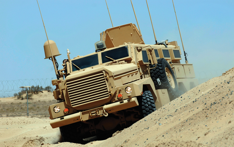 MRAP Vehicle Camera Positioning System