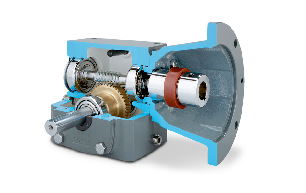 700 series worm gear speed reducer products enclosed for Worm gear drive motor