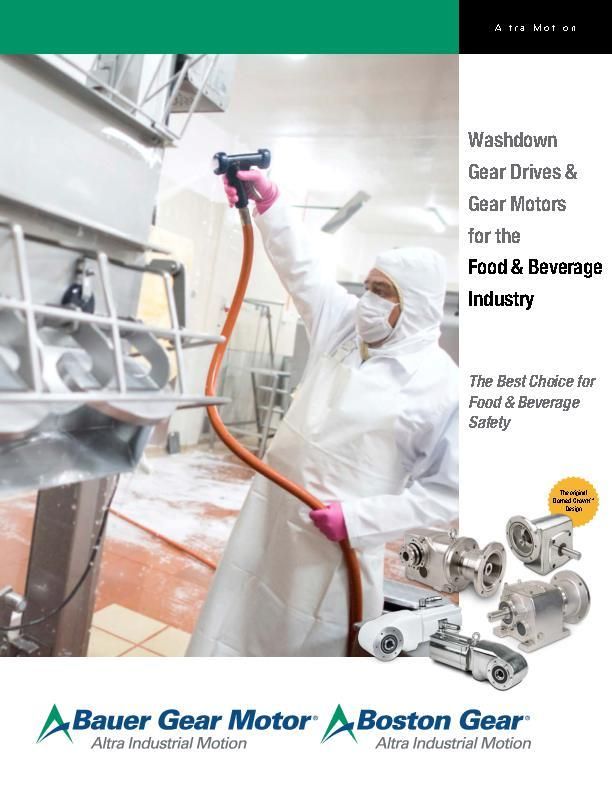 Washdown Gear Drives & Gear Motors for the Food & Beverage Industry