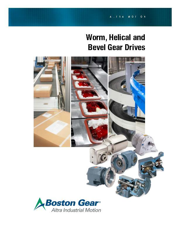 Worm, Helical & Bevel Gear Drives