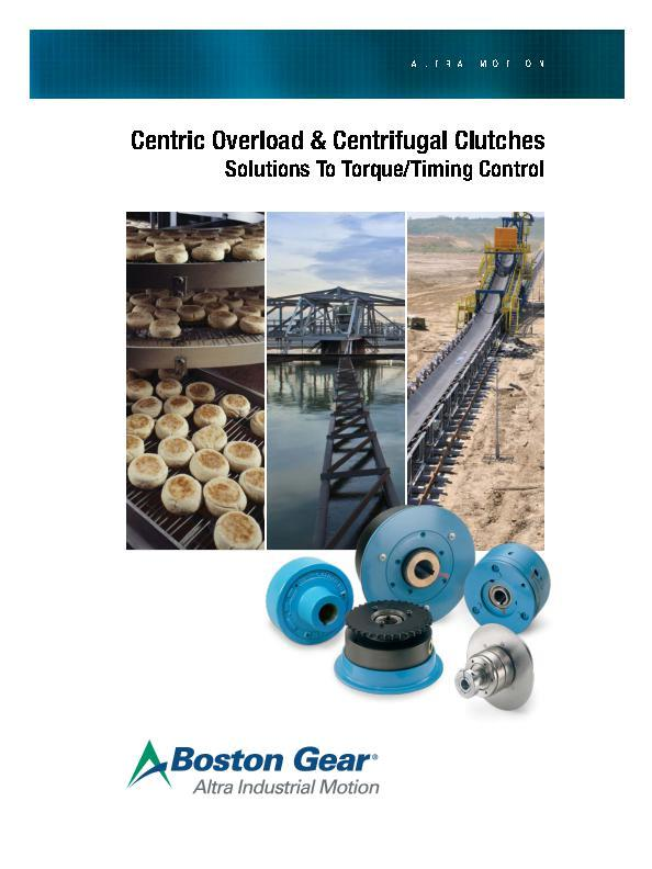 Centric Overload & Centrifugal Clutches