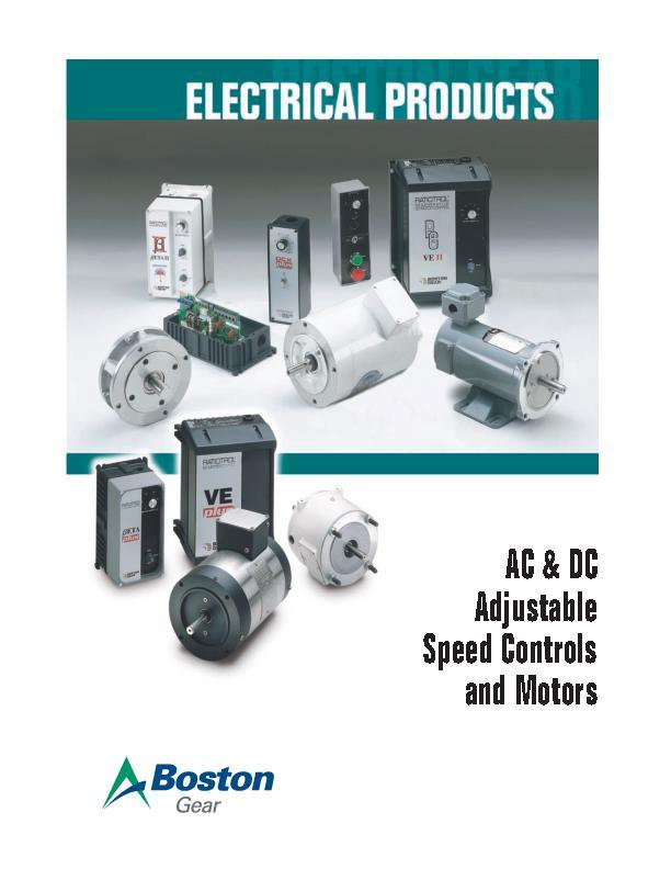 AC & DC Adjustable Speed Controls & Motors