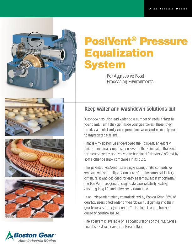 PosiVent® for Food Processing Environments