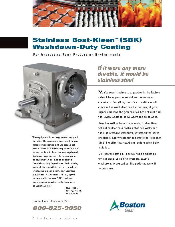 Stainless Bost-Kleen SBK Washdown-Duty Coating