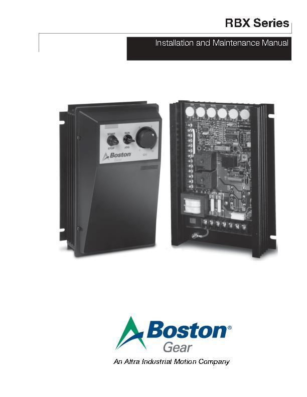 RBX Series Install & Maintenance Manual