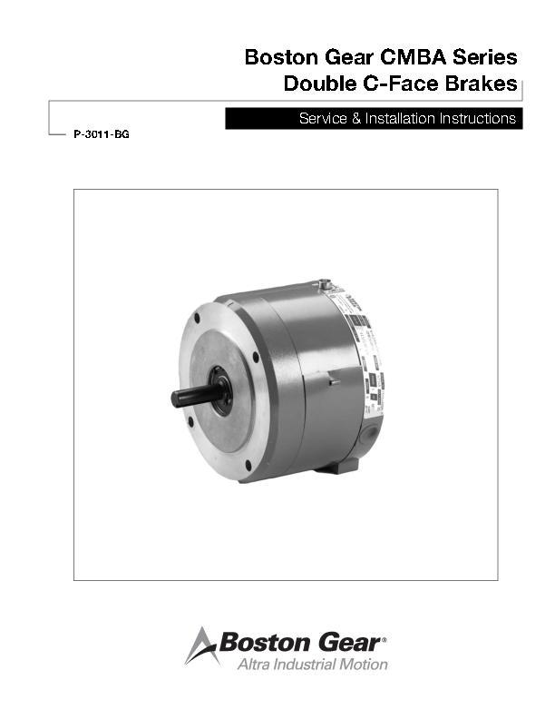 CMBA Series Double C-Face Brakes