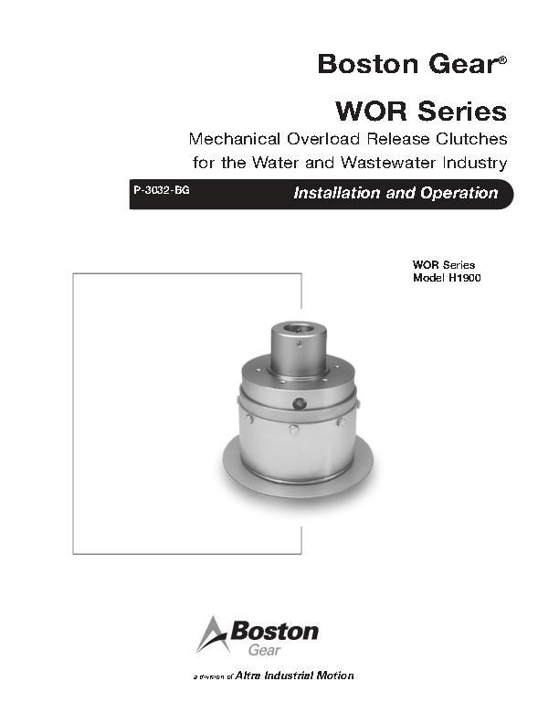 WOR Series Clutches Install & Operation